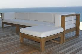 Designer Wooden Garden Bench by Modern Wood Outdoor Furniture