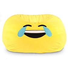 ace casual furniture gomoji emoji tears of joy bean bag chair
