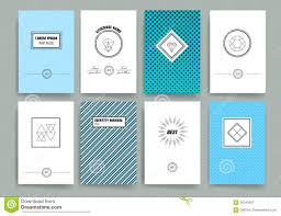 modern cards design template with sharp line logos stock vector