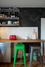 cabin kitchen ideas kitchen eclectic with chalkboard wall floating