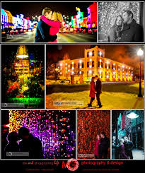 Rochester Michigan Christmas Lights by Downtown Rochester Holiday Lights Winter Engagement Sessions Mg