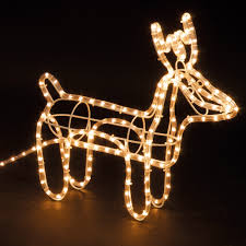 large reindeer sleigh light up outdoor garden led rope