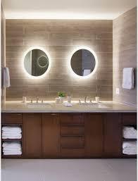 cherry wood bathroom mirror bathroom interesting round bathroom mirror with lights for