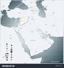 Middle East Map Labeled by Vector Map Middle East Syria War Stock Vector 326970632 Shutterstock