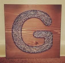 letter g wedding gift stringart handmade nailart