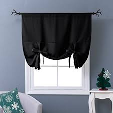 Amazon Thermal Drapes Amazon Com Nicetown Thermal Insulated Blackout Curtain In Black
