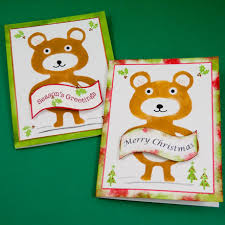 make a stenciled bear christmas card greeting card ideas aunt