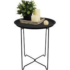 Wohnzimmer Tisch Hoch Amazon De Serviertisch Rund 41x48cm Mit Rand Beistelltisch