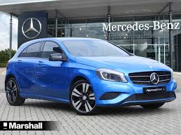 blue mercedes used mercedes a class 1 8 for sale motors co uk