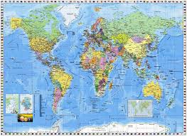 world map wall mural pr94055