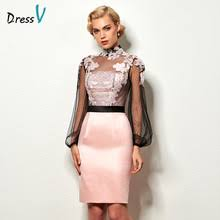 light pink knee length dress buy light pink cocktail dress and get free shipping on aliexpress com