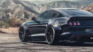 Mustang Gt Black Shadow Black Ford Mustang Gt Widebody Black Vertini Rf1 1 Rotory