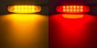 low profile peterbilt led truck and trailer lights 6 led side