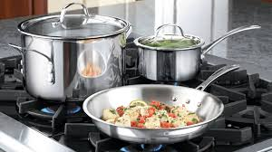 calphalon tri ply stainless steel 13 piece cookware set youtube