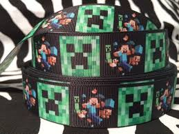 minecraft ribbon 33 best s 5th birthday minecraft party images on