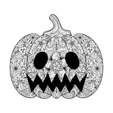 pumpkin illustration an halloween coloring page drawn in