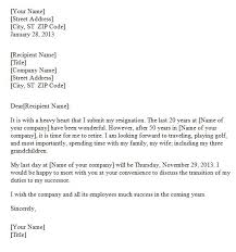 awesome collection of how to write a resignation letter for family