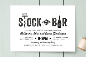 stock the bar invitations bar cart engagement party invitations by chism minted