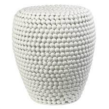 bout de canapé blanc de canapé dot stool de pols potten blanc
