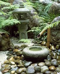bamboo water feature in japanese garden on japanese garden design