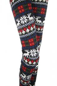 red patterned leggings 12 58 red floral reindeer patterned fleece lined warm christmas