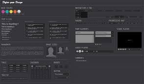 software gui design midnight ui kit psd design ui kit and user interface