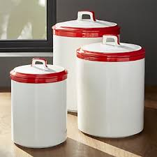kitchen canisters crate and barrel
