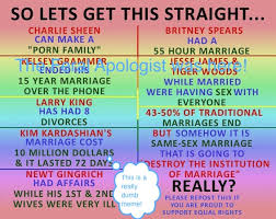 Traditional Marriage Meme - same sex marriage real talk