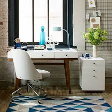 Modern Desk With Drawers Modern Desk West Elm