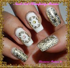 nail art stamping mania stamping with foil and qa plates