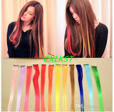 best clip in hair extensions brand clip in on colorful hair synthetic hair extensions