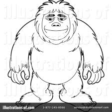 bigfoot clipart 1218209 illustration by lal perera