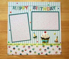 12x12 scrapbook birthday scrapbook page birthday scrapbook layout 12 x 12