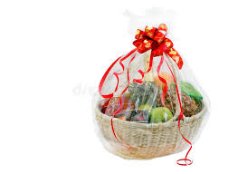 new year gift baskets new year gift basket stock photo image of gifts 21996714