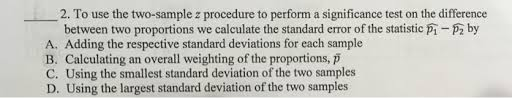to use the two sample z procedure to perform a sig chegg com