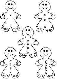 printable christmas templates shapes and silhouettes gingerbread