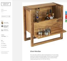Office Bar Cabinet Cb2 Elixir Mini Bar On The Blogs Leonhard Pfeifer