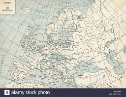 Old Europe Map by Old Map Of Europe 1930 U0027s Stock Photo Royalty Free Image