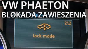 Porsche Cayenne Jacking Mode - jak uruchomić jack mode w vw phaeton do wymiany koła volkswagen