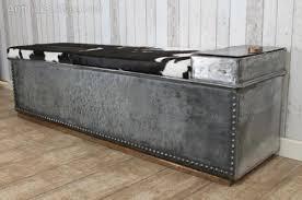 industrial storage bench antiques atlas industrial cow hide storage bench
