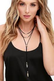 long choker necklace black images Lasso good gold and black choker necklace necklaces pinterest jpg