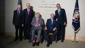 first five presidents five former presidents attend hurricane relief concert trump