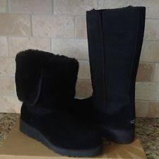 womens wedge boots size 9 ugg australia kara slim water resistant black