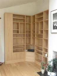 Corner Bookcase Oak Oak Corner Bookcases