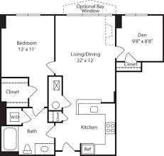 1 Bedroom Plus Den Meaning The Reserve At Clarendon Centre Apartments In Arlington 3000 N
