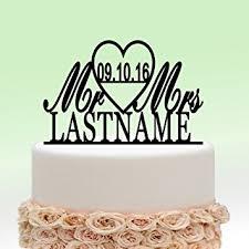 amazon com ivisi personalized wedding cake topper monogram last