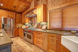 Cedar Cabinet Doors Rustic Wood Cabinets Pair With Brown Countertops In This