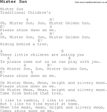 childrens songs and nursery rhymes lyrics with easy chords for