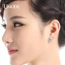 top earing aliexpress buy umode hearts arrows cut top quality 0 75