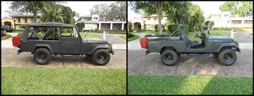 cj jeep lifted jeep lift before and after my 1981 jeep cj 8 scrambler build
